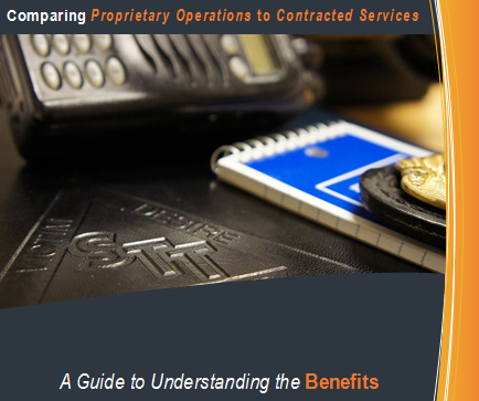 contract versus propiretary security Regardless of whether security is provided by proprietary or contract security officers, quality of training is a significant proprietary versus contract services.